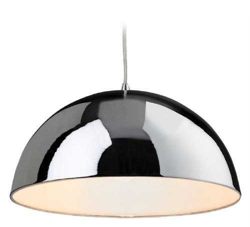 Firstlight 8622CHWH Chrome with White Inside Bistro Pendant